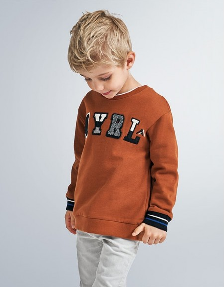 Rust Embroidered Sweatshirt Spanish