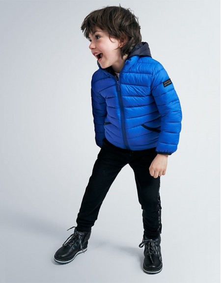 Azul Pop Feather Effect Coat