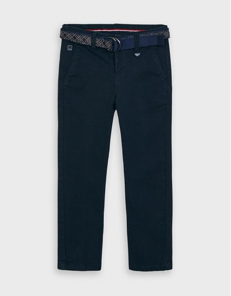 Deep Blue Structured Trousers