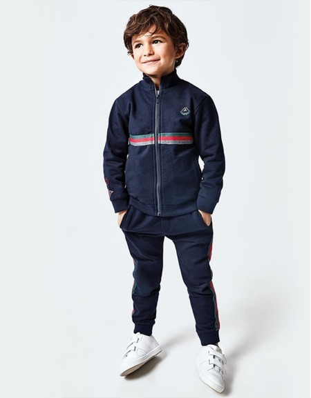 Navy Tracksuit With Two Joggers Spanish