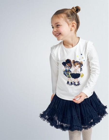 Navy Glitter Tulle Skirt