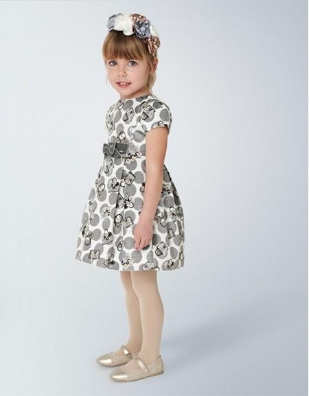 Steel Velvet Dress With Bag Print
