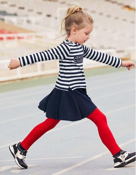 Navy Combined Stripes Dress