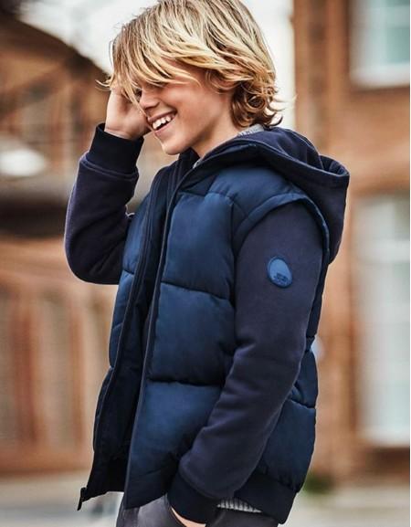 Deep Blue Padded Double Jacket