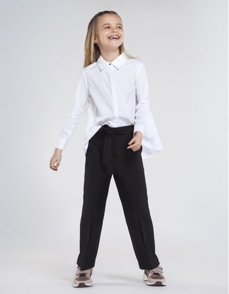 Black Cropped Trousers