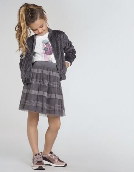 Silver Gra Tulle Skirt