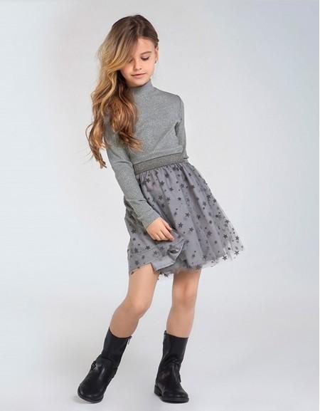Steel Tulle Dress