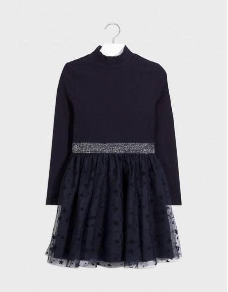 Navy Tulle Dress
