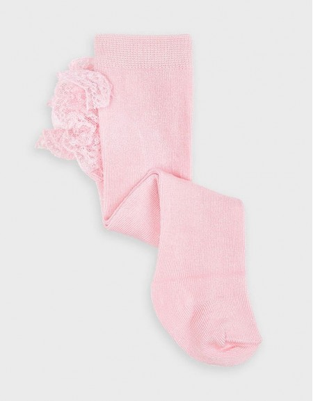 Baby Rose Ruffle Tights
