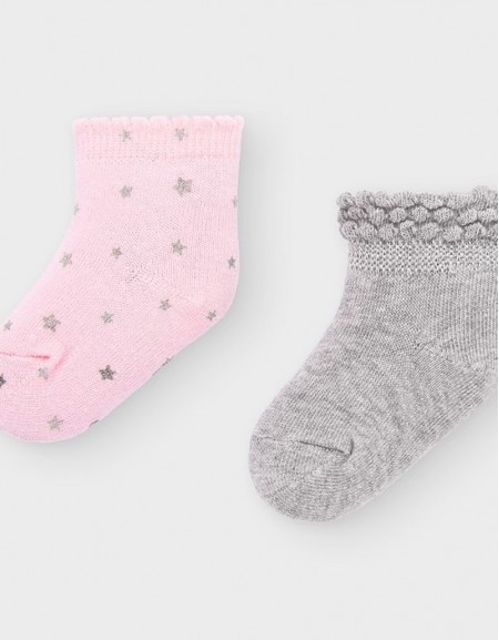 Baby Rose Set Of 2 Pairs Of Socks