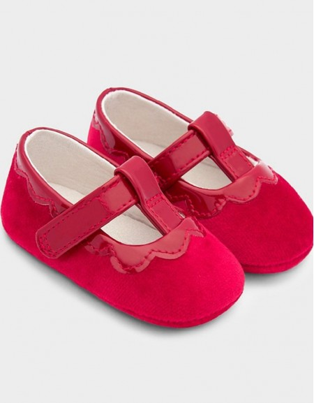 Red Patent And Velvet Shoes