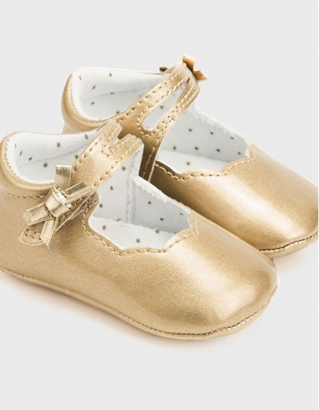 Golden Patent Mary Jane Shoes