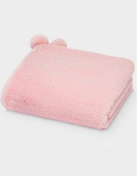 Blush Faux Fur Blanket