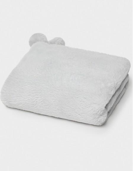 Gray Faux Fur Blanket