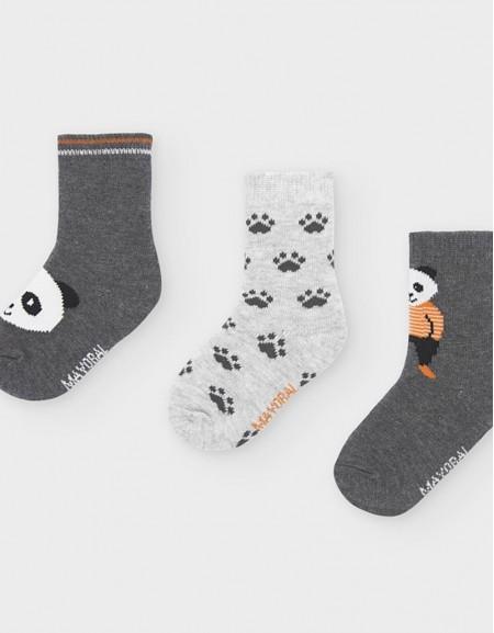 Brg Cement Set Of 3 Panda Print Socks Cement