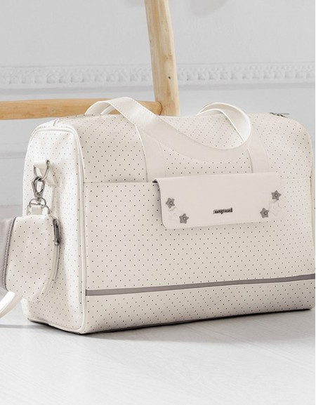 Natural Polka Dotted Bag Set