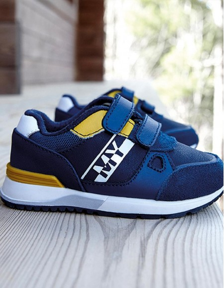 Blue Contrast Trainers