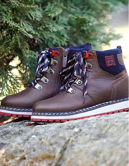 Chocolate Leather Mountain Boots