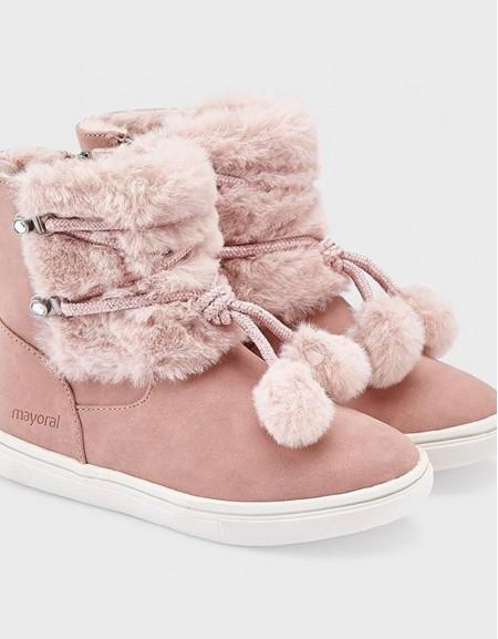 Rose Pompom Boots