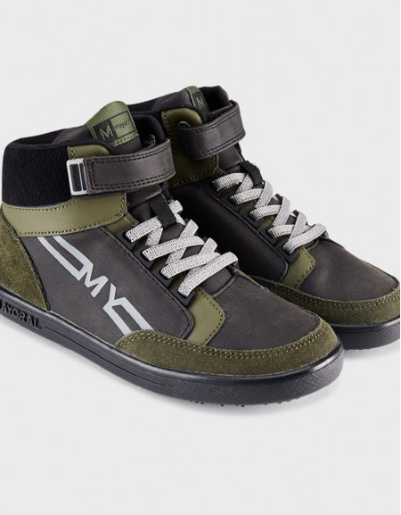 Hunt Green Sporty Logo Ankle Boots