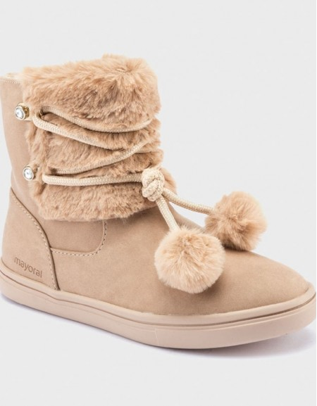 Taupe Pompom Boots