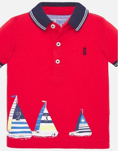 Hibiscus Polo s/s positioned