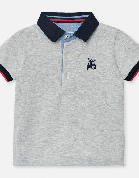 Steam Polo s/s smooth embroidery
