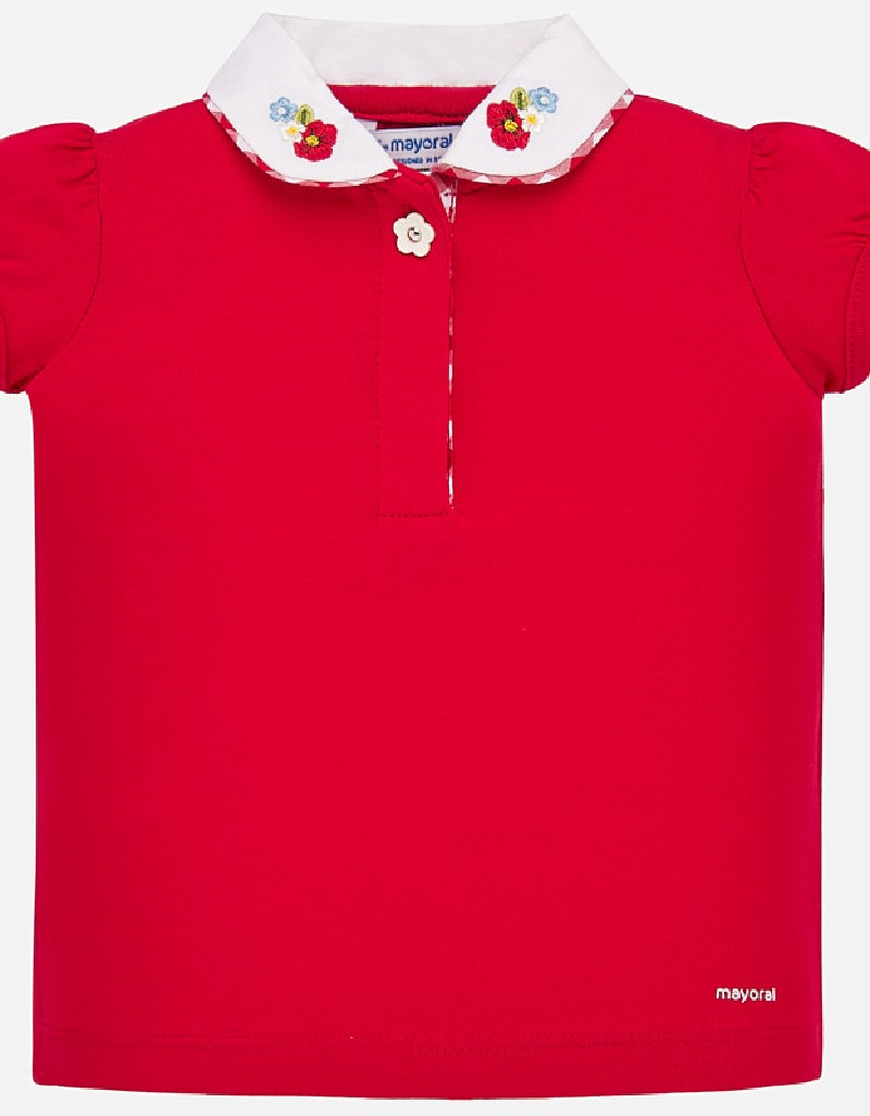 Red S/s polo t-shirt