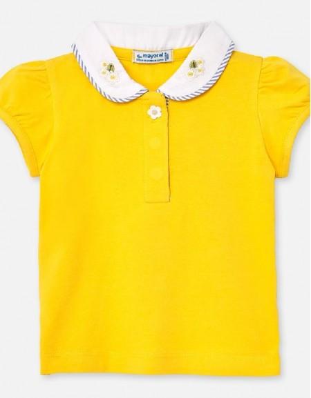 Yellow S/s polo t-shirt