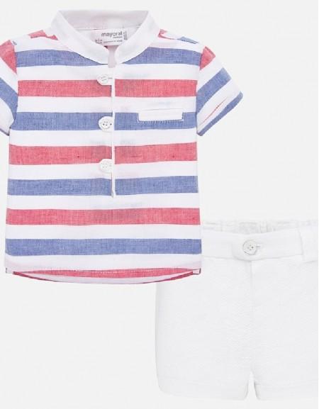 White Shorts set