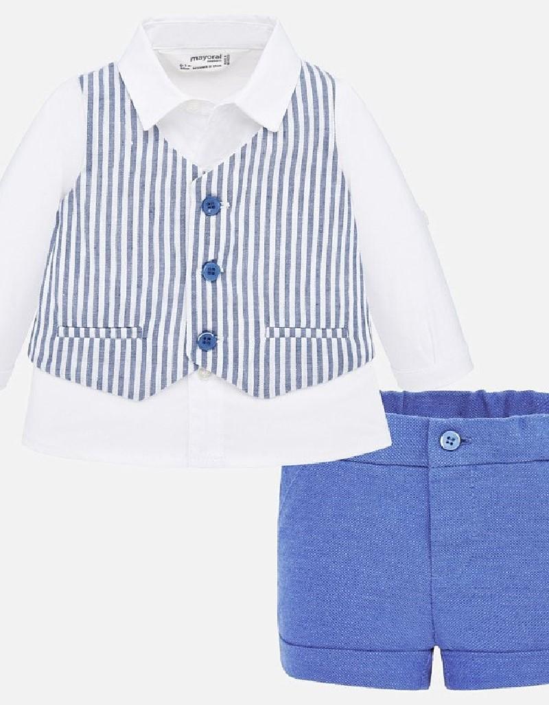Cerulean Vest shirt pants set