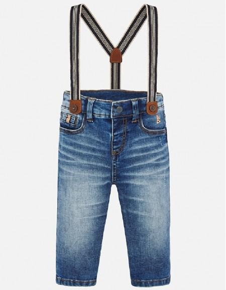 Basic Denim pants with suspenders