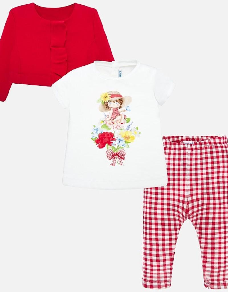 Red Leggings set (3 garments)