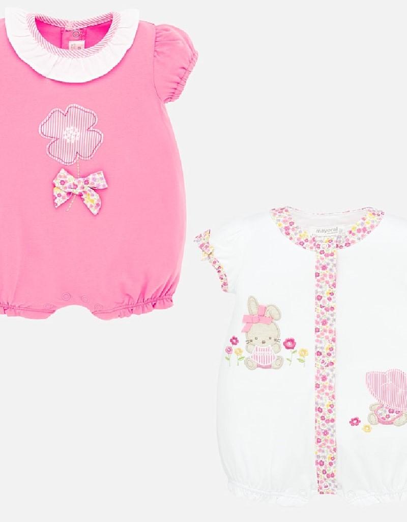 Flower Short applique pajama set 2