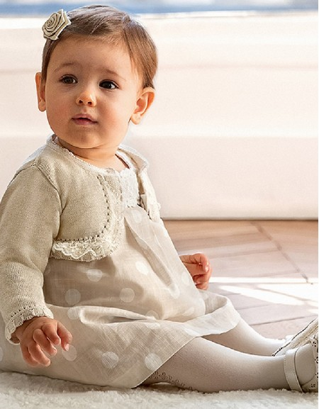 Linen Polka dot dress