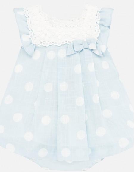 Old Blue Polka dot dress