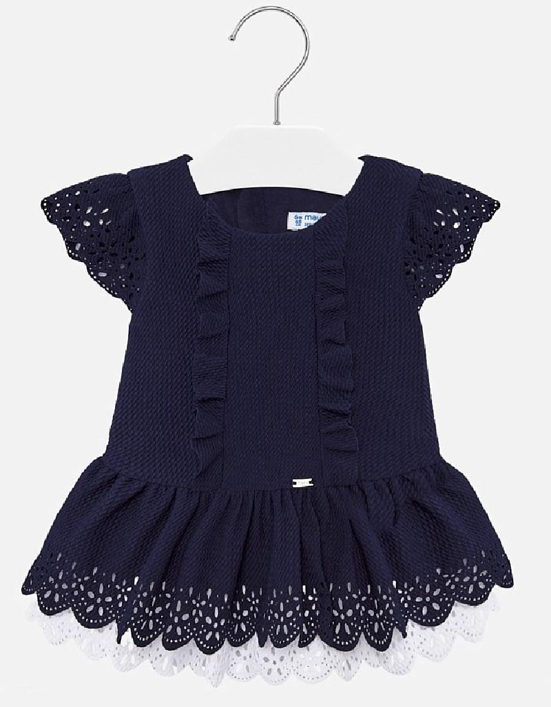 Navy Pique knit dress