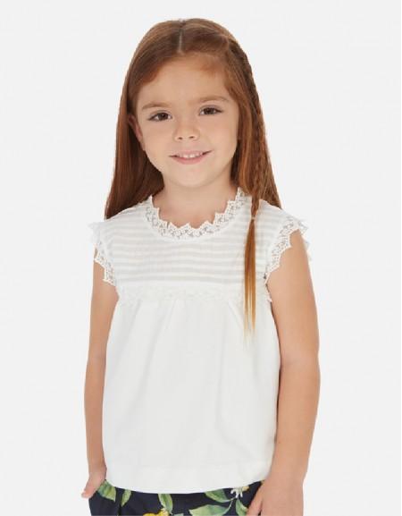 White S/s poplin shirt