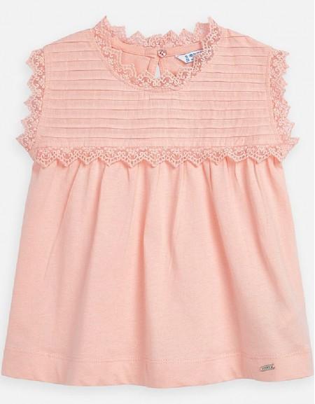 Peach S/s poplin shirt