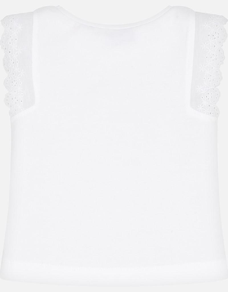 White Strapped t-shirt
