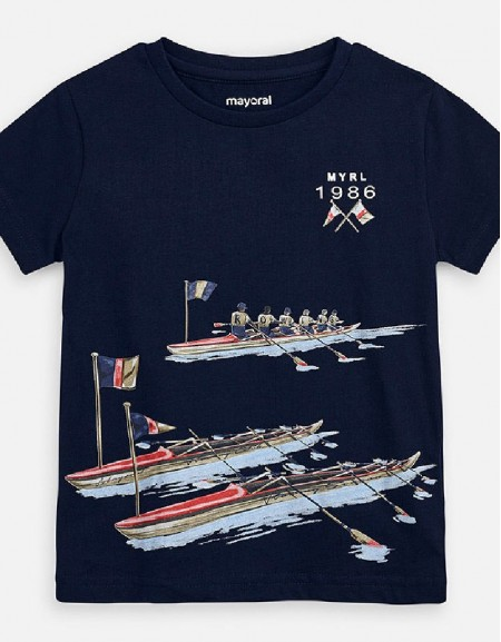 Navy Rowing season t-shirt s/s