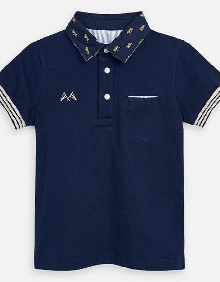 Navy S/s polo dress