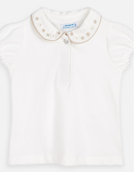 Natural S/s polo t-shirt