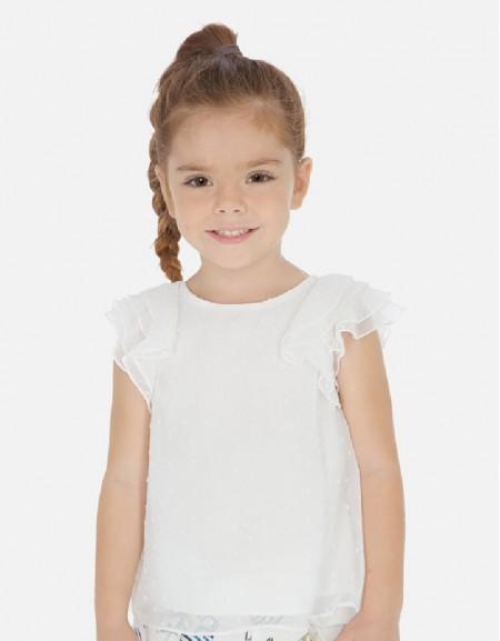 Natural Plumeti blouse