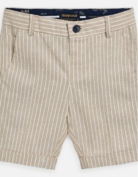 Parchment Tailored linen shorts