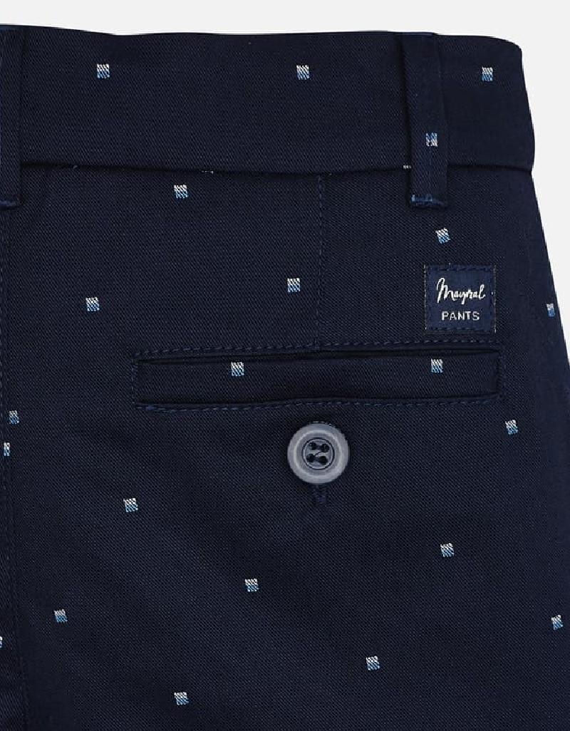 Navy Jacquard shorts