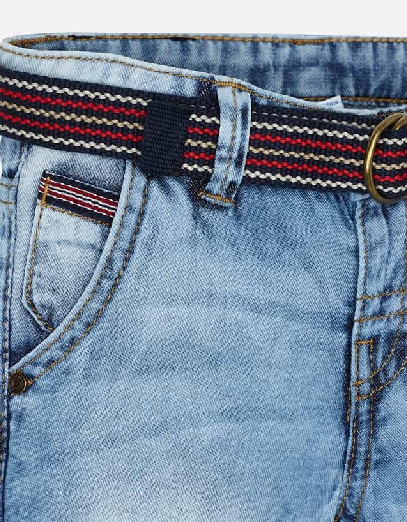 Basic Texan bermuda with belt