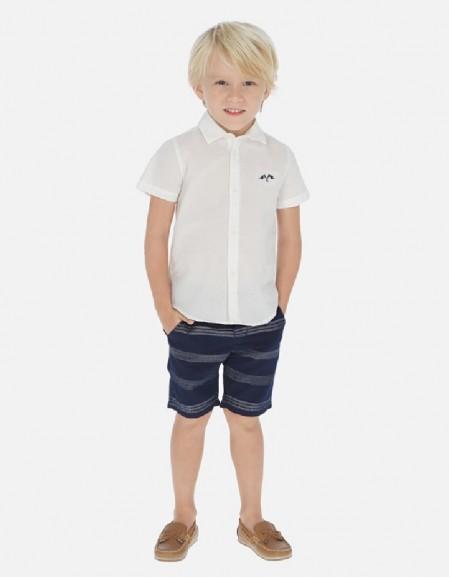 White Bermuda and t-shirt l/s set