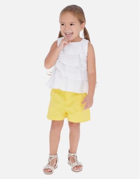 Yellow Satin shorts