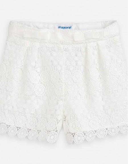 Natural Guipur shorts